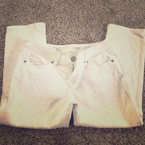 The Limited 312 crop jeans in white - size 2